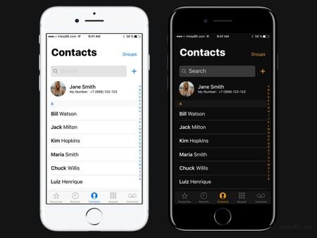 Ios 11 Concept Dark Contacts App