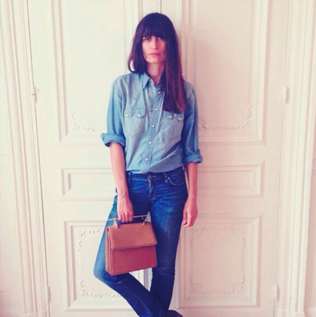 Caroline de Maigret Instagram jeans