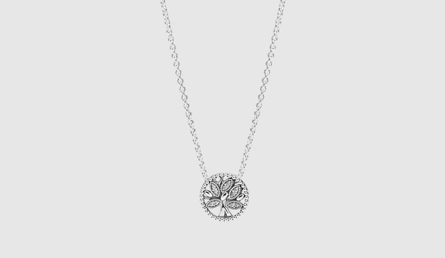 Collar Pandora Árbol de la Vida de plata y circonitas