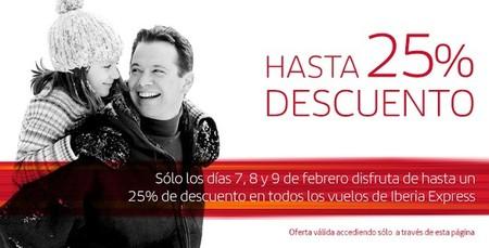 Iberia Express lanza una oferta de hasta un 25 % de descuento en sus reservas hoy y mañana