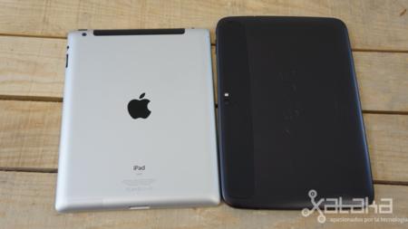Ipad 4 frente a Nexus 10 acabado