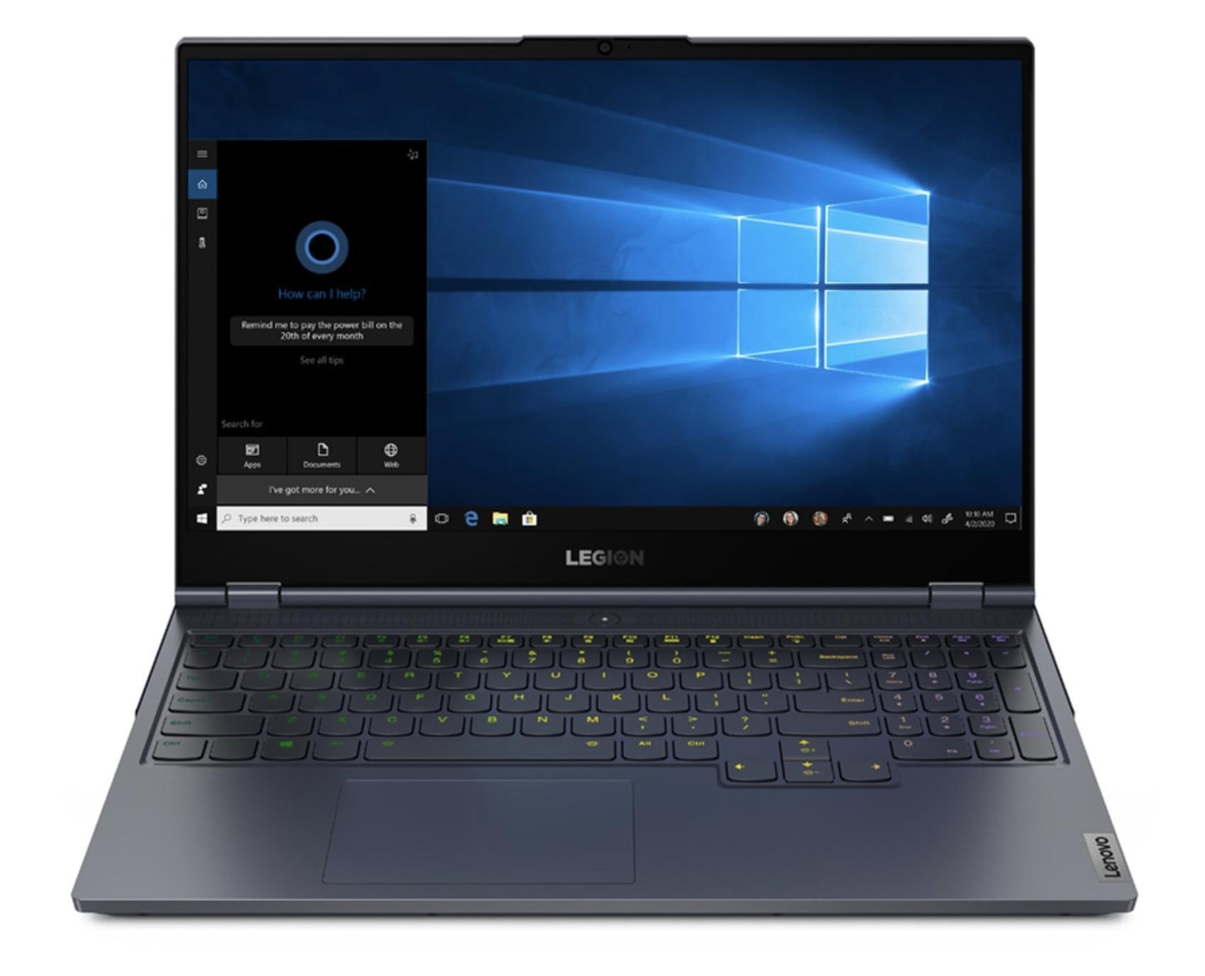 Portátil Gaming Lenovo Legion 7i 15IMH05-5QSP, i7, 16GB, 512GB SSD, GeForce RTX 2080 Super Max-Q 8GB, FreeDOS / Sin Sistema Operativo