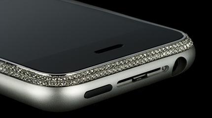 El lujo llega al iPhone: diamantes