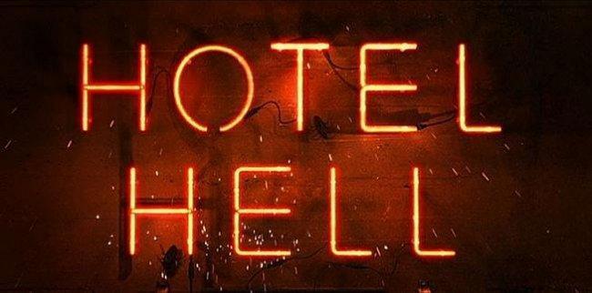Imagen con el logo de 'Hotel Hell'