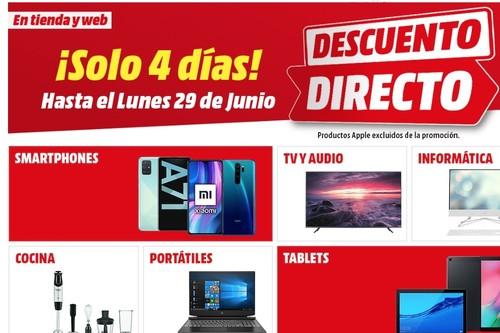 Descuento directo en MediaMarkt: hasta 400 euros de ahorro, durante este fin de semana, en consolas, televisores, portátiles y mucho más