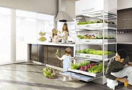 Kitchen Nano Garden, un huerto en el espacio de un frigorífico