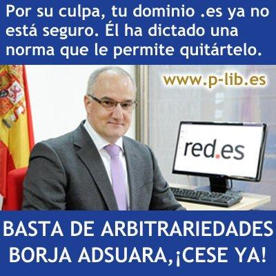 Denuncian que los dominios .es no son seguros porque Borja Adsuara (red.es) puede quitártelos
