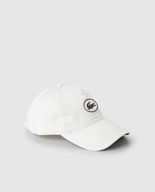 Gorra de hombre crudo logo engomado