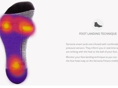 Calcetines inteligentes para corredores, un nuevo y original gadget