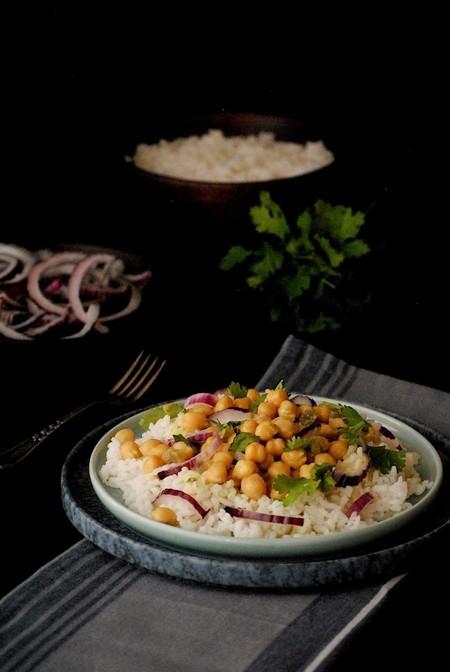 Curry De Garbanzos Arroz
