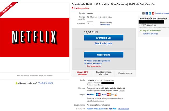 Cuenta Netflix