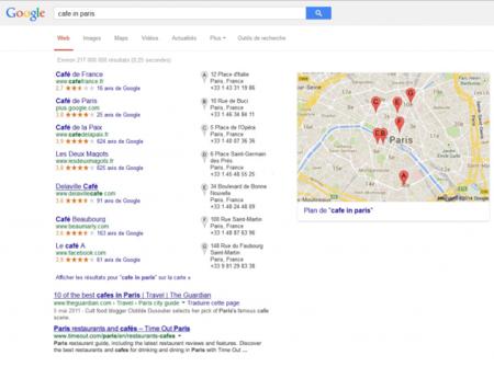 Google ANTES: los resultados de búsquedas locales sólo son de Google