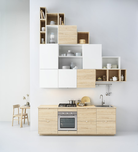 Ikea Cocina madera clara Catálogo 2020