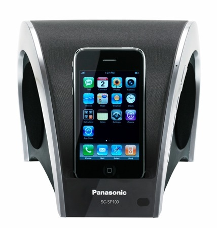 Panasonic SC-SP100, extraña base para el iPod de Apple