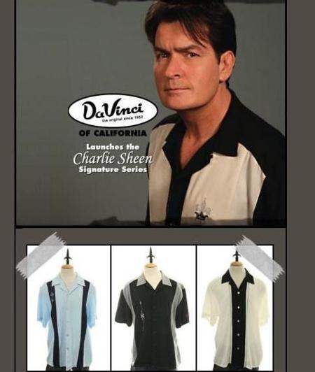 Nueva colección de camisas Da Vinci by Charlie Sheen