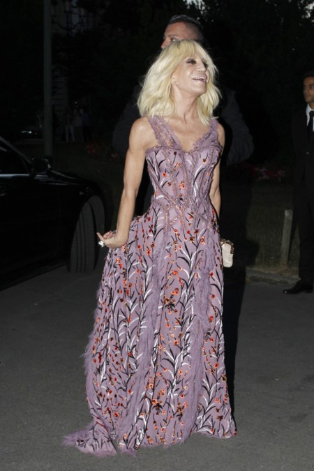 Rosie Huntington Irina Shayk Donatella Versace Look Paris Alta Costura 3