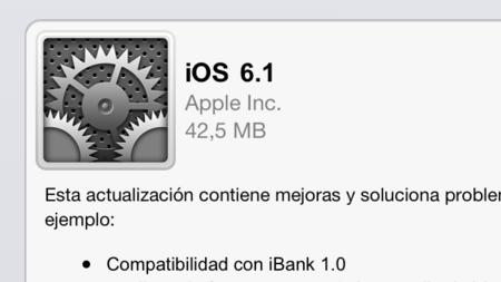 iOS 6.1 ya disponible, actualización de Siri, compatibilidad con iBank y nuevo modo gráfico a 48FPS [¡Inocentes!]
