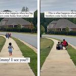 El precioso vídeo de una pequeñita corriendo a recibir a sus hermanos mayores después del cole