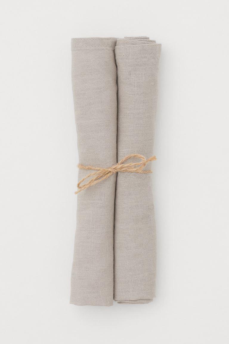 Pack de 2 servilletas de lino