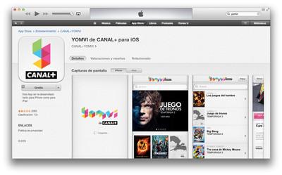 Yomvi desactiva la salida de televisión de su aplicación para iPhone y iPad
