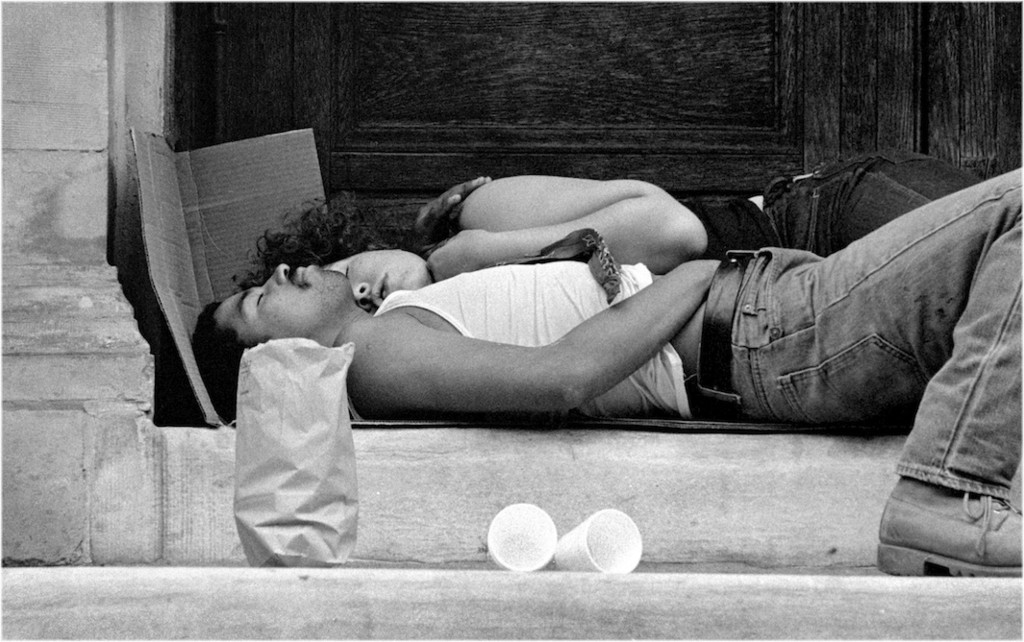 Couplesleepingchurchsteps 1988 Copy 2 Jpg Crop Original Original