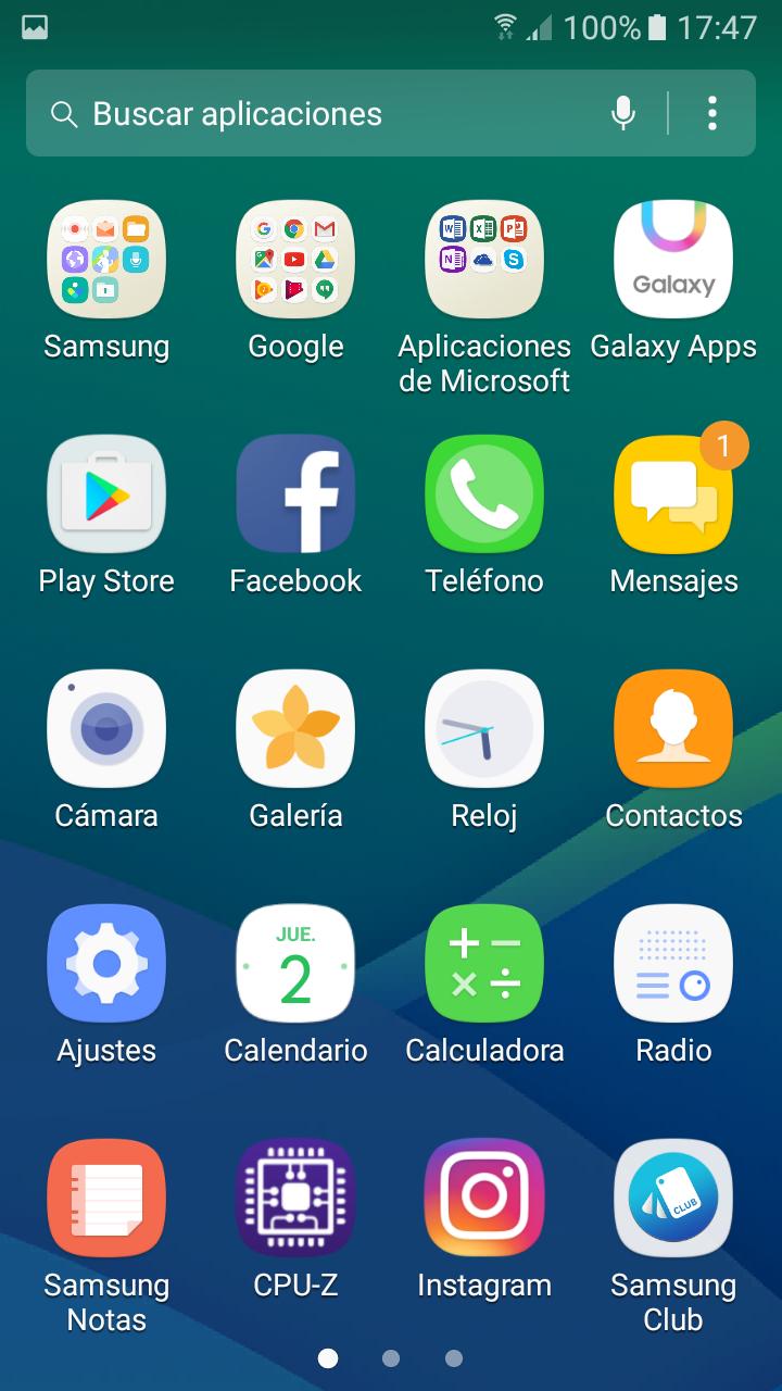 Imágenes del software del Samsung Galaxy A3 2017