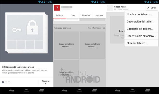 Pinterest 1.1 para Android