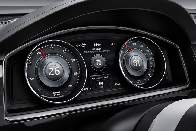 VW CrossBlue Coupé Concept, panel de instrumentos