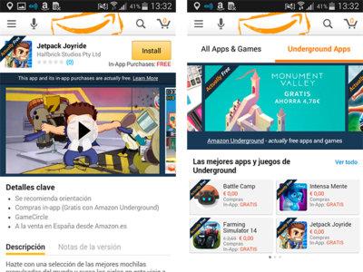 Amazon Underground llega a España con más de 1.000 aplicaciones totalmente gratuitas