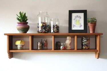 Recicladecoración: viejos frascos de cristal utilizados como elementos decorativos