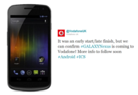 Vodafone confirma que tendrá el Galaxy Nexus
