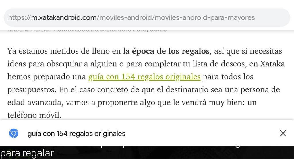 Chrome para Android, pronto con una vista previa para visualizar a dónde llevan los vinculos