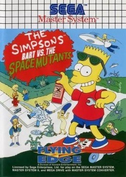 Bart VS The Space Mutants Sega Master System