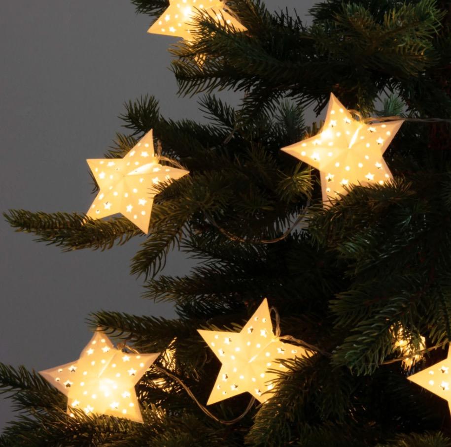 Guirnalda de navidad luminosa con estrellas LEDS L.210