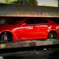 Dolorpasión™: Lexus IS-F 2011 convertido en chatarra en segundos