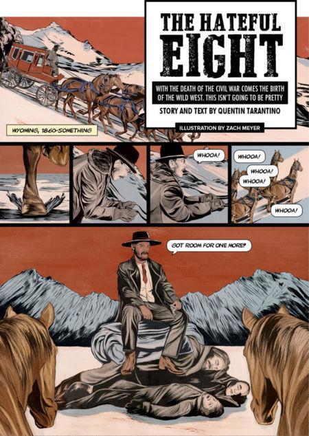 'The Hateful Eight', cómic del principio de la historia