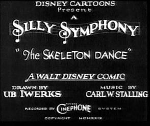 Las Silly Symphonies (III): El arte de 'The Skeleton Dance' en 1929