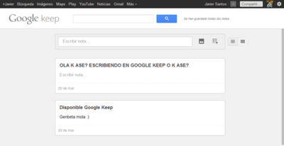 Google habilita Keep, el gestor de notas y contenido para Drive