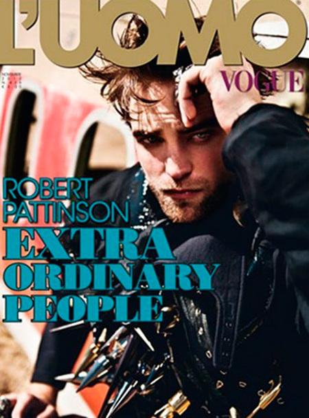 A Robert Pattinson se le corre el rímel en la portada de Vogue