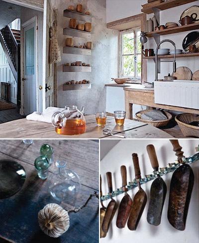 Cocina casa rústica