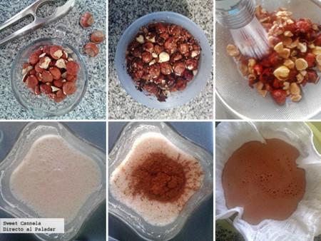 Preparación leche de Nutella