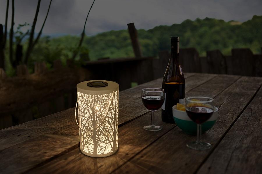 Lámpara de mesa exterior solar FOREST 3000k