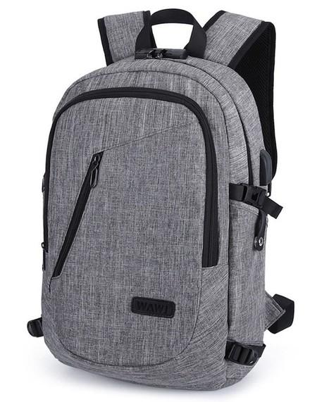 f86a397dd Precisamente para evitar a los amigos de lo ajeno se ha diseñado la mochila  WAWJ, que es impermeable, fabricada en tela Oxford, transpirable y con un  ...