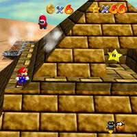 Super Mario 64: cómo conseguir la estrella Shining Atop the Pyramid de Shifting Sand Land