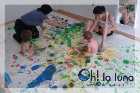 Pintura con pulverizadores: taller de ocio infantil en Alcorcón