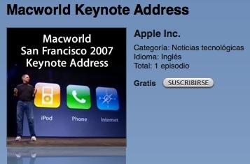 Apple habilita la descarga del vídeo de la keynote desde iTunes