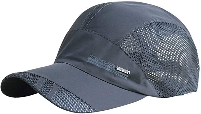 AIEOE - Gorra para Sol Verano de Deporte para Hombre Gorras Mujer Golf Transpirables de Malla Absorbe Sudor Sombrero Secado Rápido para Aire Libre