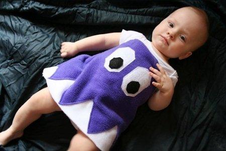Vestido de miedo para bebés: fantasma Pac-Man