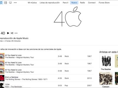 ¿Quieres seguir celebrando los 40 años de Apple? Escucha esta Playlist con canciones de sus anuncios