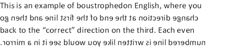 Boustrophedon English